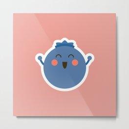 Happy Blueberry Metal Print