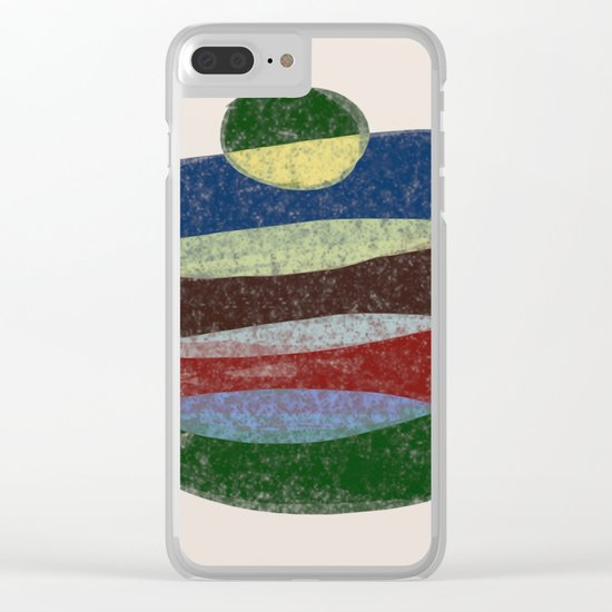 Stay On Top - Abstract, textured, pastel layers Clear iPhone Case