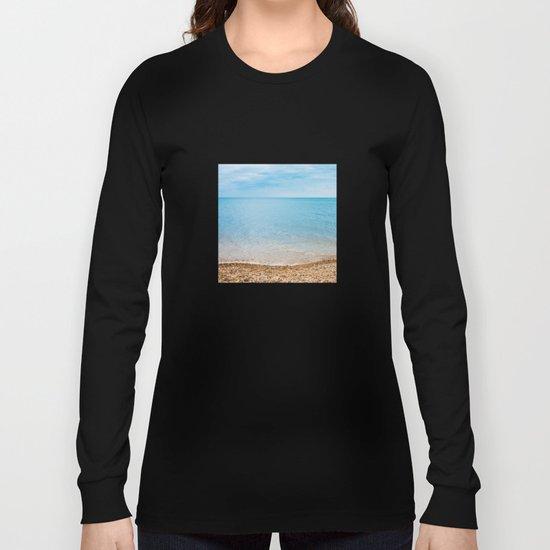 sea sand beach 4 Long Sleeve T-shirt