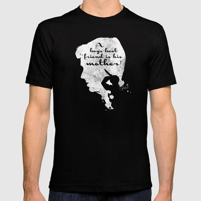 Boy's best friend – Norman Bates Psycho Silhouette Quote T-shirt