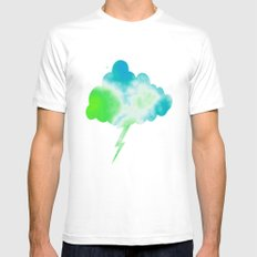 Calming Sky Mens Fitted Tee White MEDIUM
