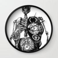 mike wrobel Wall Clocks featuring Mike Tyson by Motohiro NEZU