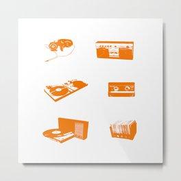 Sound music system orange Metal Print