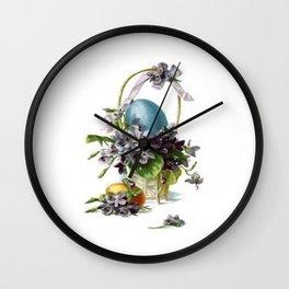 Vintage Easter Basket Wall Clock