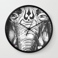 ganesha Wall Clocks featuring Ganesha by Morgan Soto