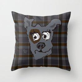 Bandit GRAY Throw Pillow