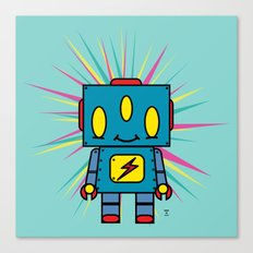 Vintage Kid Robot Canvas Print