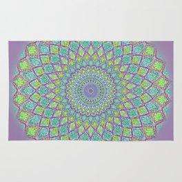 Purple Spirograph Mandala 0118 Rug