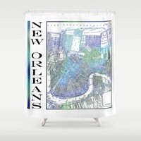 new orleans Shower Curtains featuring New Orleans by Catherine Holcombe