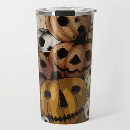 Halloween Pumpkins, a Cornucopia of Jack o' lanterns. spoopy Travel Mug