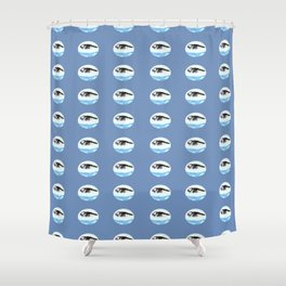 Atlantic Puffin Pattern Shower Curtain