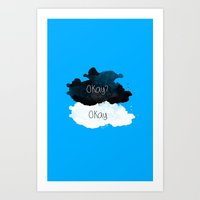 tfios Art Prints featuring TFIOS Okay clouds by digital detours