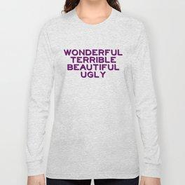Wonderful-purple Long Sleeve T-shirt