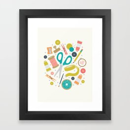 Get Crafty Framed Art Print