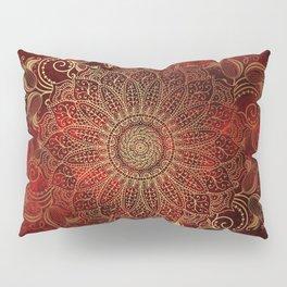 Golden Mandala Pillow Sham