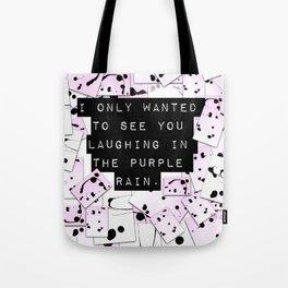 laughing in rain. Tote Bag