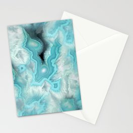 Aqua Sea Stone Stationery Cards