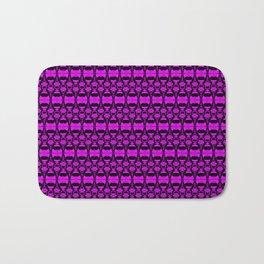 Dividers 02 in Purple over Black Bath Mat