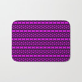 Dividers 02 in Purple over Black Bath Mat