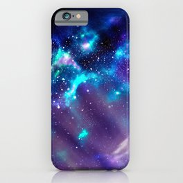 Abstract Nebula #2: Blue iPhone Case