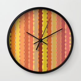 Multi-faceted decorative lines 11 Wall Clock
