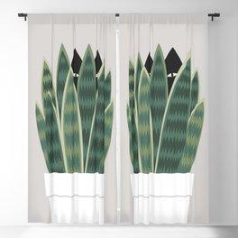 Cat and Plant 22: Sneak Plant Blackout Curtain