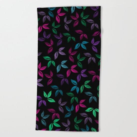 Flower Pattern X Beach Towel