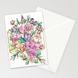 Floral Geometry Stationery Cards