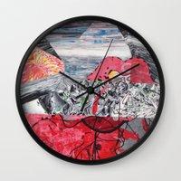 ariel Wall Clocks featuring ARIEL by Brandon Neher
