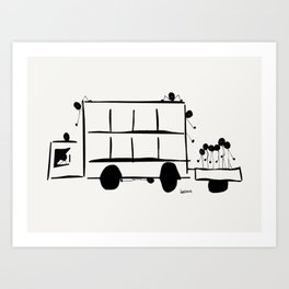 Jump On Board Art Print