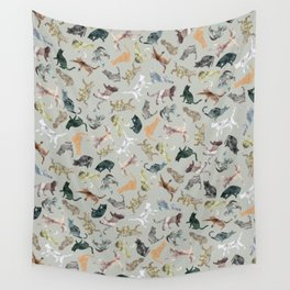 Marble Cats Wall Tapestry