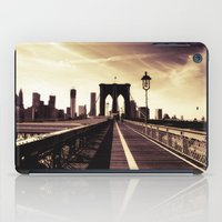 brooklyn bridge iPad Cases featuring Brooklyn Bridge  by Vivienne Gucwa