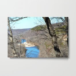 Clmbing Up Sparrowhawk Mountain above the Illinois River, No. 2 of 8 Metal Print