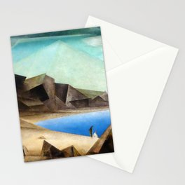 The High Shore by Lyonel Feininger Stationery Cards