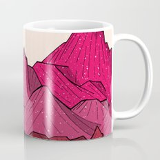 The falling snow and the mountains Mug
