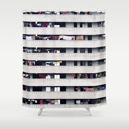 Immeuble face Shower Curtain