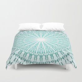 Mint Mandala Duvet Cover