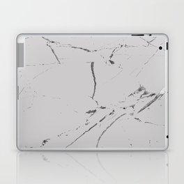 light grey modern marble Laptop & iPad Skin