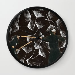 Aikido Shadow Combat Wall Clock