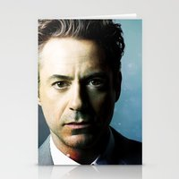 robert downey jr Stationery Cards featuring Robert Downey Jr 001 by TheTreasure