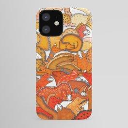 Orange Dinosaur Gradient iPhone Case