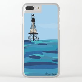 Fowey Rocks Lighthouse Clear iPhone Case