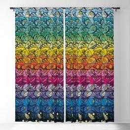 Escher Fish Rainbow Pattern Blackout Curtain