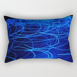 Fiber glass Swirl Blue Rectangular Pillow