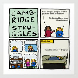 Cambridge struggles: Plans Art Print