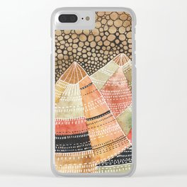 Pattern in the mountains Clear iPhone Case
