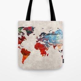 World Map 60 Tote Bag