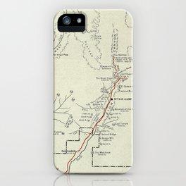 Vintage Zion National Park Map (1919) iPhone Case
