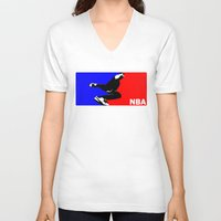 nba V-neck T-shirts featuring NBA National Bboy Association by Funky House