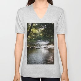 Many Turns River Unisex V-Neck